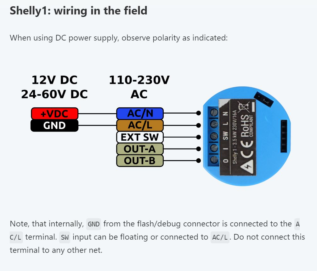 The Shelly 1 Smart Relay Is It Better Than Sonoff Basic 110 Volt Receptacle Wiring Diagram Before We Talk About Custom Firmware Lets Look At Some Of Interesting Differences Between Hardware A And Shelly1